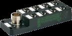 Moduł pasywny 8xM12, 5-polowy, bez LED, CNOMO