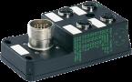 M12 distributor box 4-way, 5-pole, without LED, CNOMO