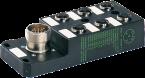M12 distributor box 6-way, 5-pole, without LED, CNOMO