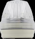 Lampa sygnałowa Comlight57 LED biała 24VDC IP65