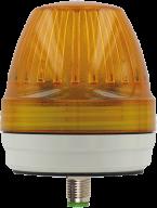 Lampa Comlight57 LED, żółta, wyjście M12, IP65