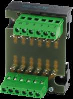 Płytka montażowa MP 6, szyna montażowa / zaciski śrubowe