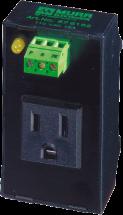 MSVD gniazdo NEMA z LED, na szynę DIN