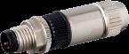 Wtyczka M8 męska, prosta, Slimline, 3-polowa, 0,14-0,34mm2