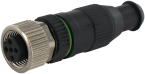 MOSA M12 female straight field-wireable (IDC)