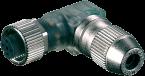 Wtyczka MOSA M12 żeńska, kątowa z LED