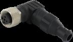 MOSA M12 female 90° field-wireable (IDC)