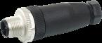 Wtyczka M12 męska, prosta, 4-polowa, zaciski śrubowe, 4..6mm
