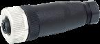 Wtyczka M12 żeńska, prosta, 5-polowa, zaciski śrubowe, 4..6mm