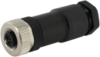 M12 female straight field-wireable
