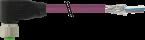 Konektor M12 żeński, kątowy z wolnym końcem przewodów, DeviceNet