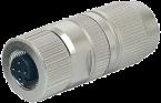 Wtyczka M12 żeńska, prosta, Slimline 0,14-0,34mm2, ekranowana, 4-polowa