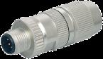 Wtyczka MOSA M12 męska, prosta, ekranowana, Ethernet, D-cod., 0,25-