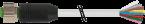 Konektor M12 żeński, prosty z wolnym końcem przewodów