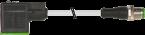 Konektor zaworowy MSUD, typ A 18mm - M12 męski, prosty