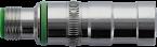 M12 adaptive insert shielded male / female snap