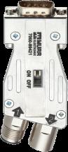 Adapter Profibus M12/SUB-D 180°