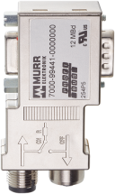 Adapter Profibus M12/D-Sub Mini 90°