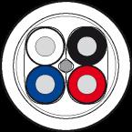 Przewód PUR-OB 2x0,25+2x0,34 ekranowany, fioletowy, UL, 100m