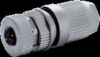 Wtyczka M12 żeńska 0° L-cod. 5-polowa 0,75…1,5mm2