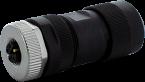 Wtyczka M12 żeńska 0° L-cod, 5-polowa, max. 1,5mm2
