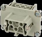 Wkład Modlink Heavy B6 żeński, 6-polowy, 500V, 16A