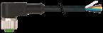 Konektor M12 żeński kątowy