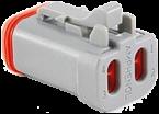 I/O-Stecker grau mit Endkappe und Wedgelock für Einzellitzen