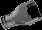 Steckerendgehäuse E/A-Stecker, 12 mm Anschluss, 0°