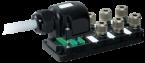 Passive-distr. plastic,6xM12,Harax,pluggable cable