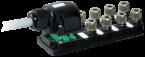 Passive-distr. plastic,8xM12,Harax,pluggable cable