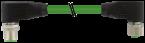 Konektor M12 męski, kątowy - M12 żeński, kątowy