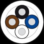 Przewód PUR-OB 4x0,34 czarny, UL CSA, 100m