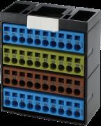 Blok potencjałów, 40 punktów, niebieski/żółty/brązowy/niebieski