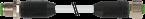 Konektor MASI M12 męski, prosty - M12 żeński, prosty