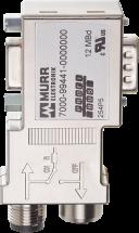 Adapter Profibus M12/D-Sub Mini 90°