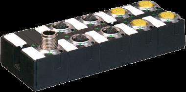Moduł sieciowy MASI67 E/A DI4/0,2A DO4/1,6A AB Y K3 8xM12