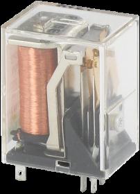 Przekaźnik wtykowy WE:24VDC - WY:125VAC/DC/2A   2 styki