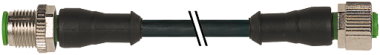 Konektor M12 męski, prosty - M12 żeński, prosty