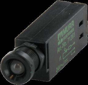 Dioda LED żółta, 24V AC/DC - 10 mA - M5 - IP65