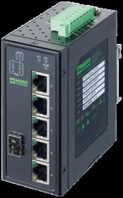 6 Port unmanaged Gigabit Switch 4 PoE Ports IP20 metal 48V