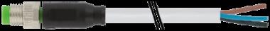 Konektor M8 męski, prosty z wolnym końcem przewodów