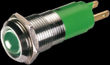 Lampka LED zielona, 24V DC - 20 mA - M10 - IP65