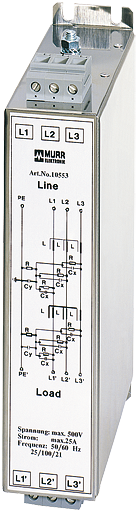Filtr przeciwzakł.3-faz,2-poziomowy