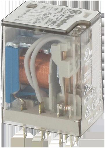 Przekaźnik wtykowy, WE:24VAC - WY:250VAC/DC/7A, 4 styki