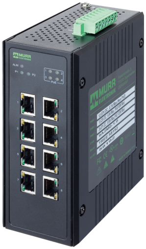 8 Port unmanaged Gigabit Switch 4 PoE 1SFP Ports IP20 metal