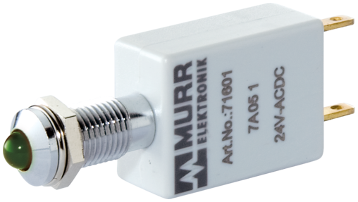 LED-Anzeige grün 24VDC IP67 Lampentest