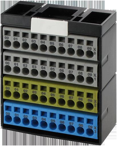 Blok potencjałów, 40 punktów, szary/szary/żółty/niebieski