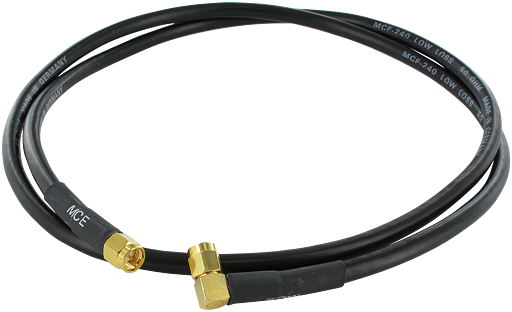 2,4 GHz antenna Cable  Straight to 90° 10m