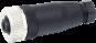 Wtyczka M12 żeńska, prosta, 5-polowa, zaciski śrubowe, 6..8mm
